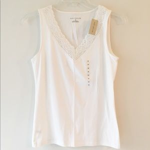 Ann Taylor White Tank (New with Tags)
